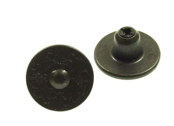 Jeansknöpfe mit Trachten Muster NJ-56-schwarz