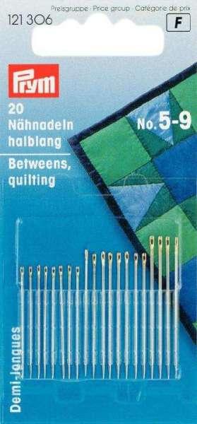Nähnadeln mit Goldöhr 20 Stk halblang No. 5 9