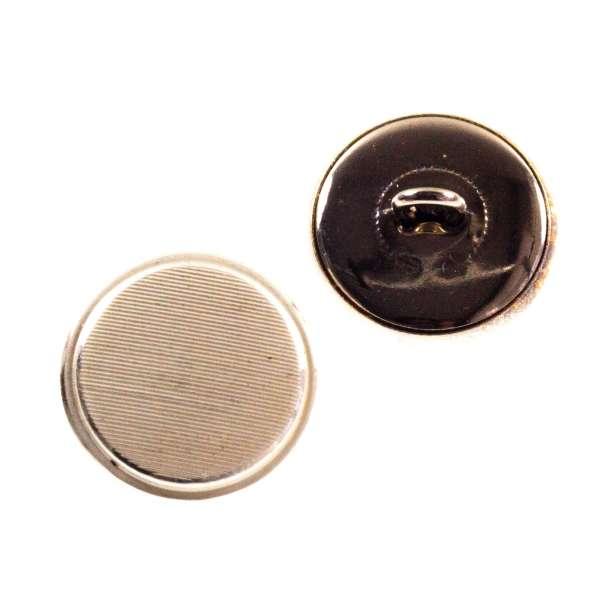 Metallknöpfe kaufen Ösen Knopf mit Strichmuster mk-64-silber-creme
