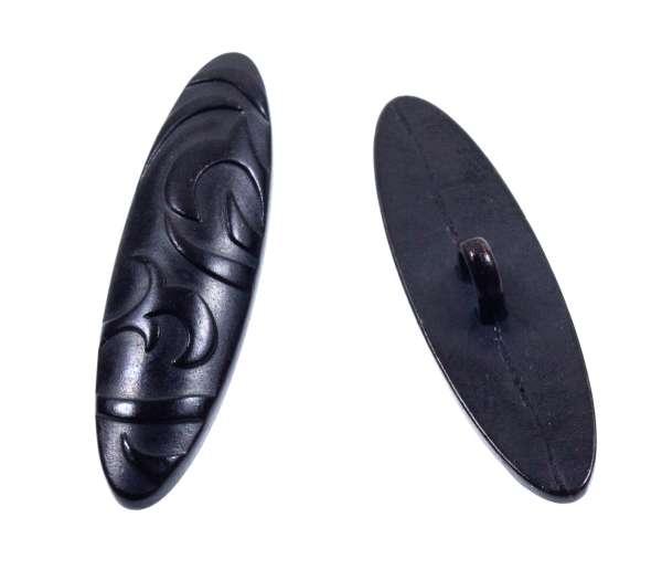 Trachten Knebelknöpfe mit Ornament Ornament tk-40-schwarz