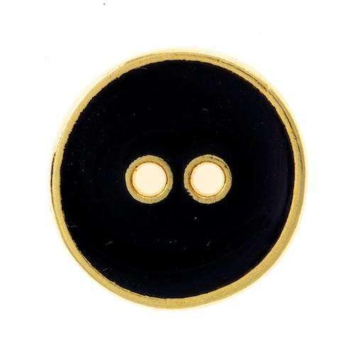 Metallknöpfe schwarz gold MK-367g schw