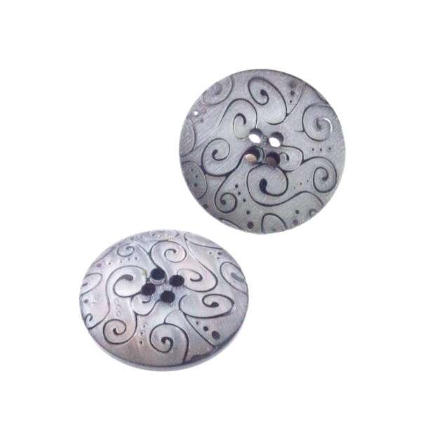 Knöpfe mit schwarz abgesetzten Muster KM-13-hell-grau