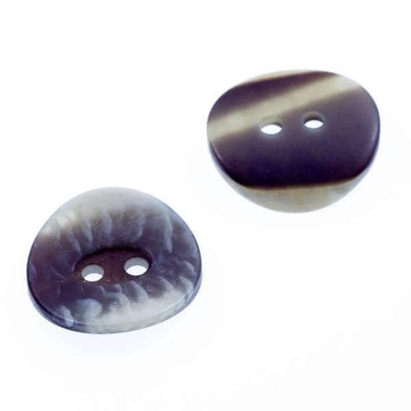 Hornimitat Knöpfe kg-2-18 mit grau beigem Muster