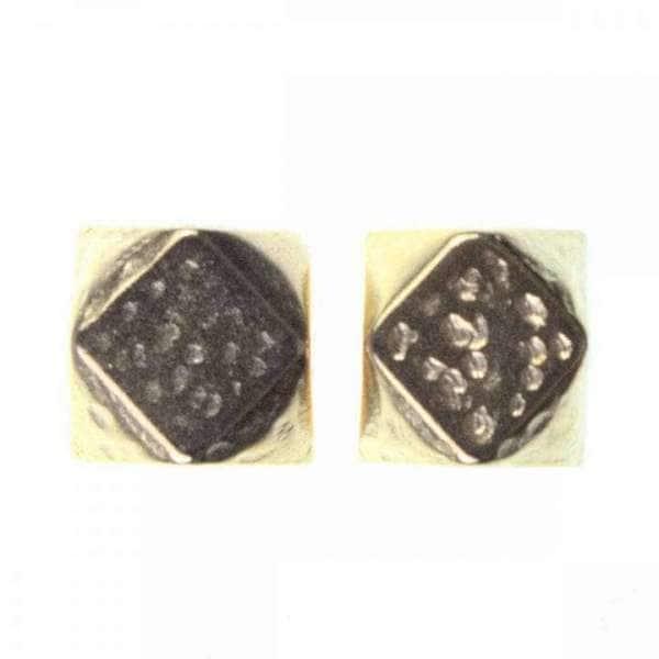 Würfel Kordelenden aus Metall gold KOE-19g