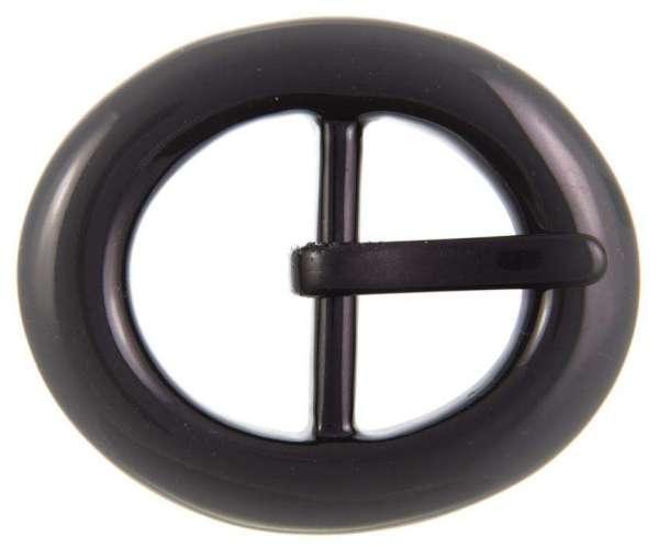 Kunststoff-Schnalle schwarz mit Dorn Oval