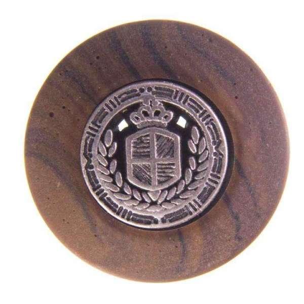 Holzimitat mit Wappen KBR-7