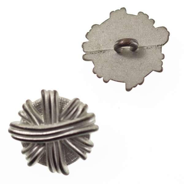 Metallknöpfe Knäuel mk-112-silber-matt