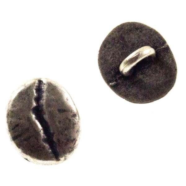 Knöpfe in Form einer Kaffeebohne Knöpfe altsilber TK-10