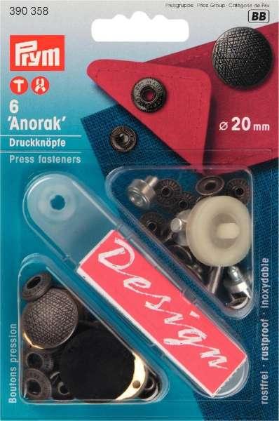 Druckknöpfe Anorak Spirit altsilber 20mm