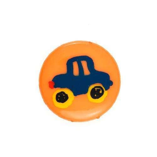 Kinderknöpfe kaufen Auto KK-7 orange