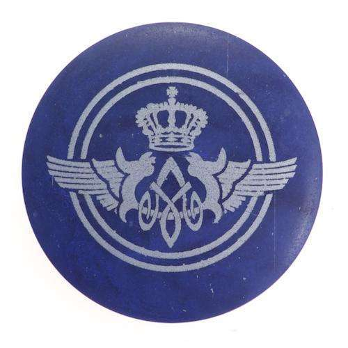 Ösen Knöpfe mit silbernem Wappendruck KBL-21
