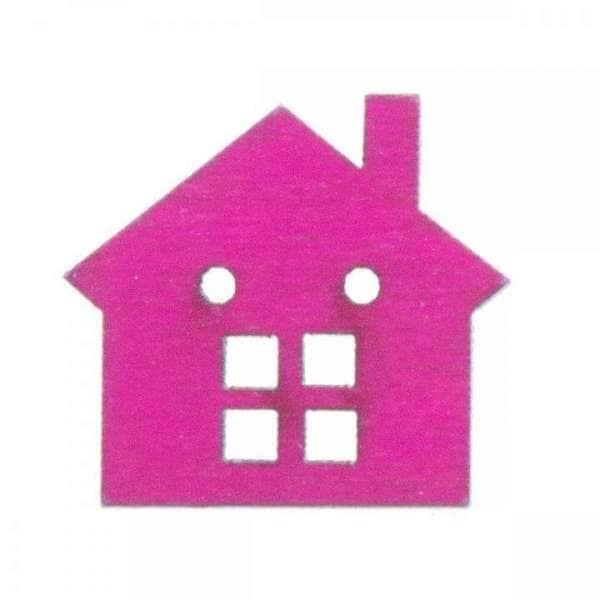 Holzknöpfe kaufen Haus HK-SO 1 7