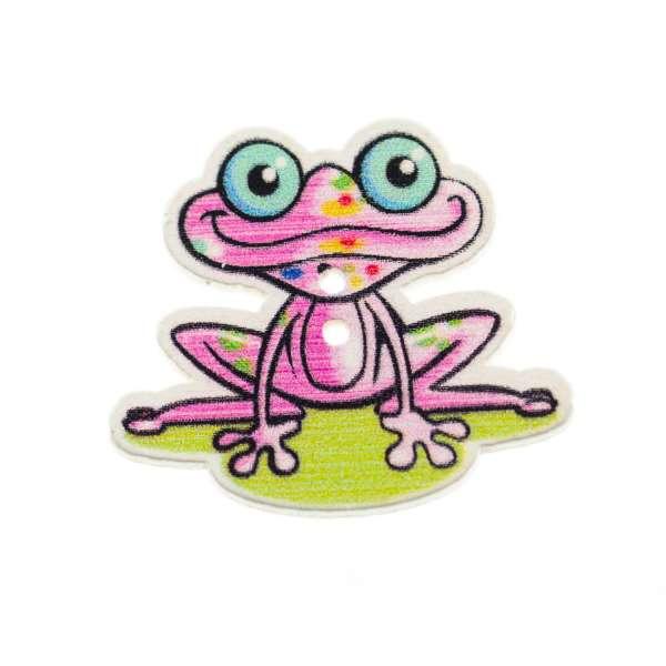 Holzknöpfe Frosch hk-22-6
