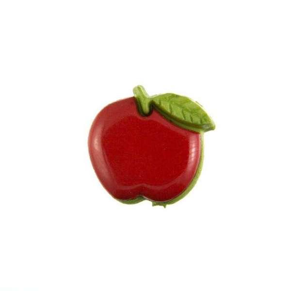 Kinderknöpfe kaufen Apfel KK-154 rot 12