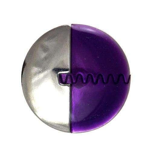Metallknöpfe silber lila MK-106s li