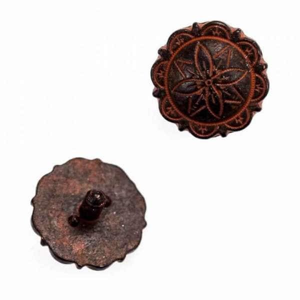 Zierniete Blume TN-3-rost