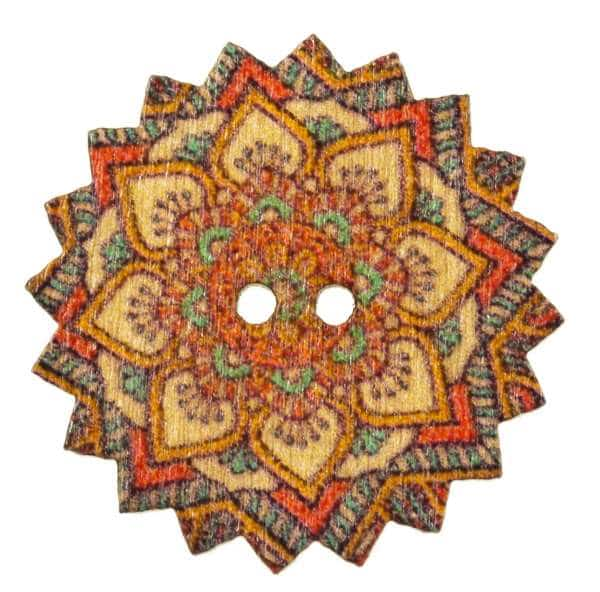 Holzknopf Mandala Stern hk-204-10