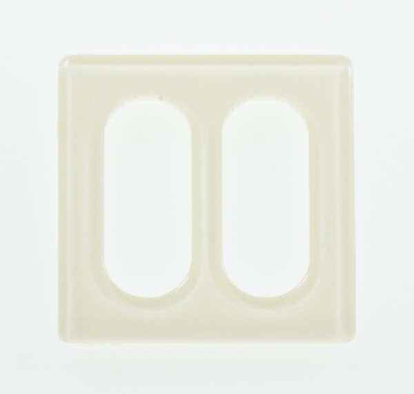 Transparente Schnalle Edel rechteckig creme glänzend
