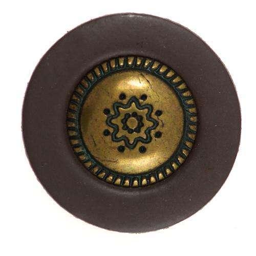 Knöpfe mit Metalleinsatz KBR-129 4 braun 26