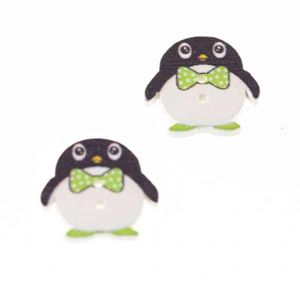 Holz Knöpfe mit Pinguin Motive hk-260-3