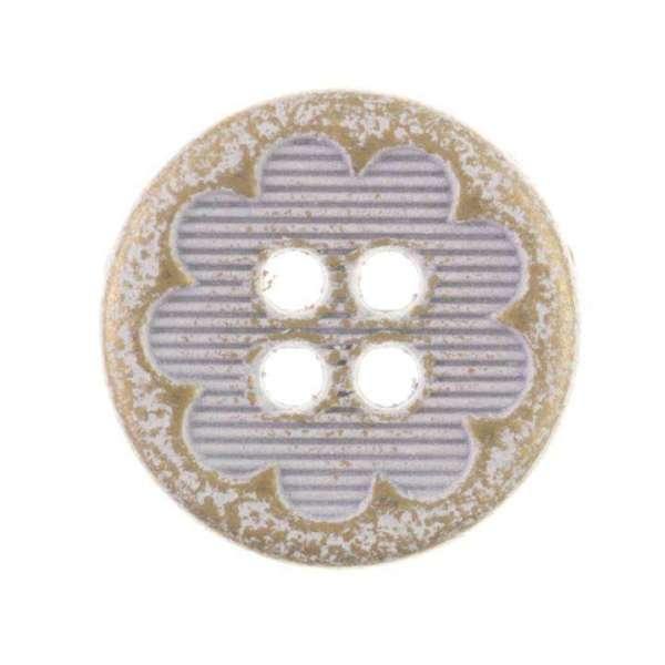 Trachtenknöpfe mit Blümchen gold weiß Tk 9