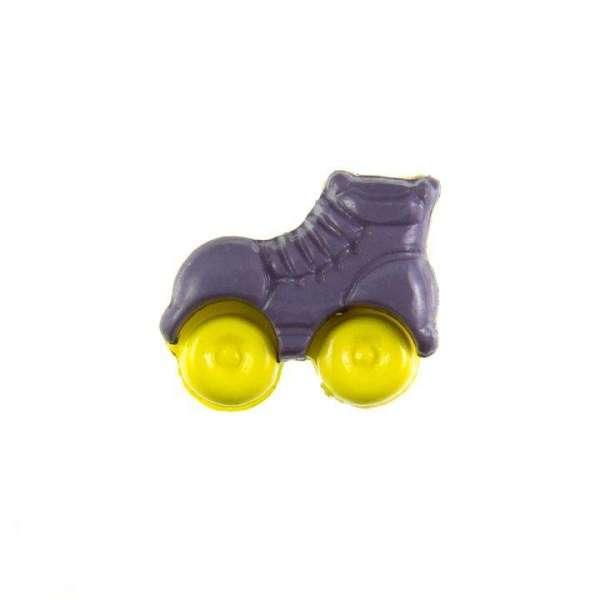 Kinderknöpfe kaufen Rollschuhe-KK-150-lila-6