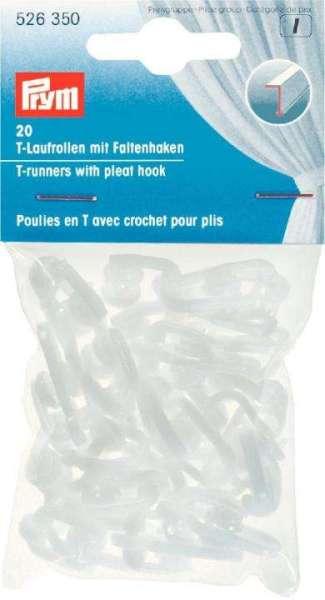 T-Laufrollen mit Faltenhaken