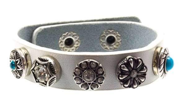 Chunk Schmuck Armband weiß Flower Power 01