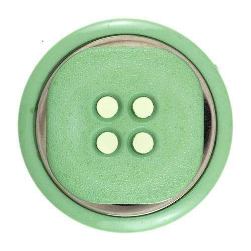Knöpfe mit großem Metalleinsatz grün KGR-62