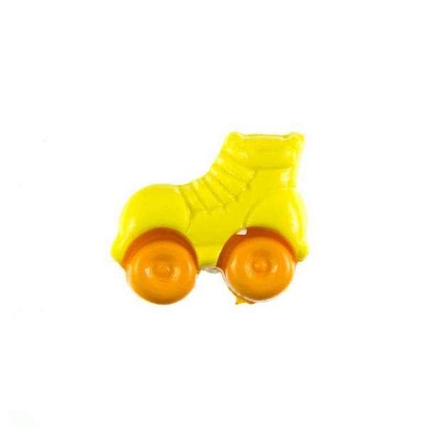 Kinderknöpfe kaufen Rollschuhe-KK-150-gelb-5