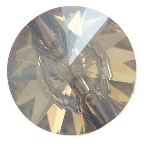 Glas Ösen Knöpfe gold shinny
