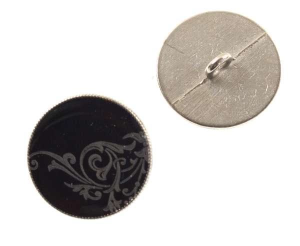 Ösen Knöpfe schwarz mit Laser Ornament mk-67-schwarz