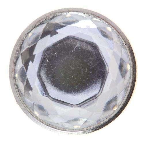 Ösen Knöpfe Metall mit Strasstein ST-20s kristall