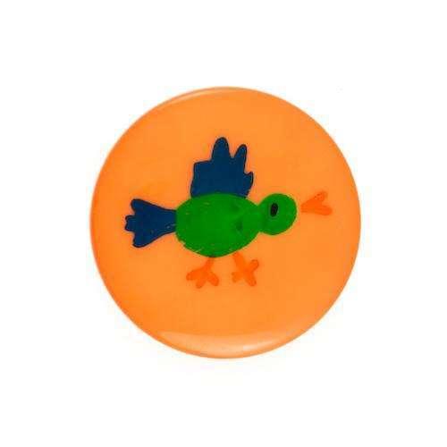 Kinderknöpfe kaufen Vogel KK-6 orange