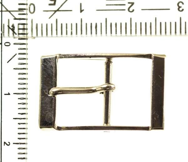 Mini Schnalle für Base Cap mit Dorn silber zs-71s