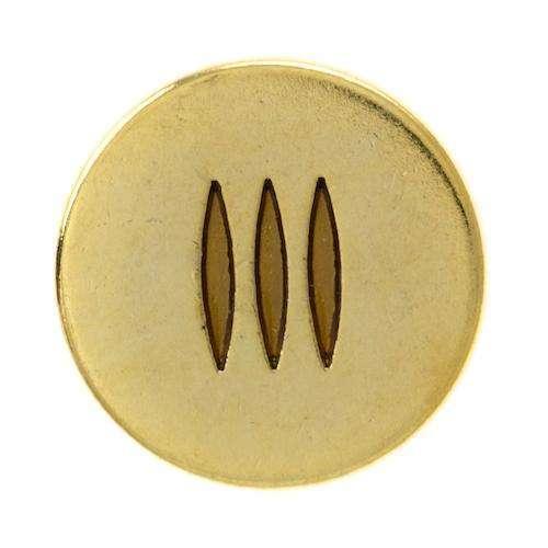 Metallknöpfe mit Streifenmuster MK-381g 4gel