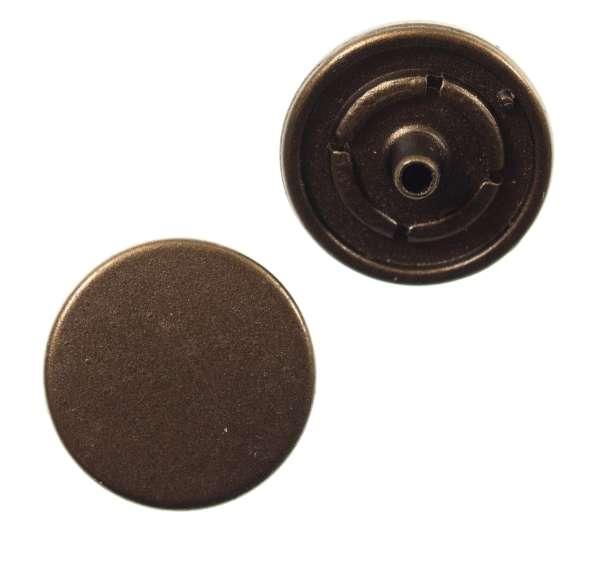 Druckknöpfe schlicht flach nk-26-bronze