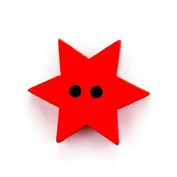 Weihnachtsknöpfe Knöpfe Stern rot