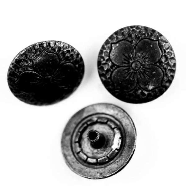 Druckknöpfe Blume NK-8-schwarz