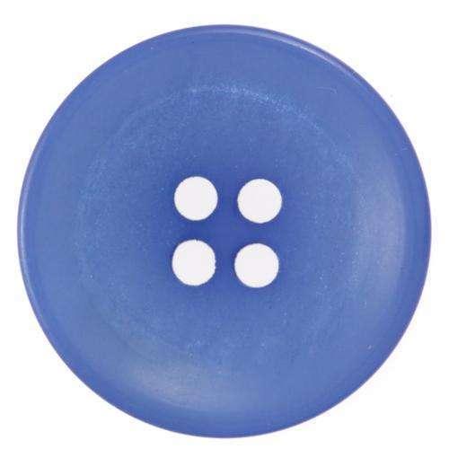 Knöpfe kaufen 2-Loch Knopf glänzend mit mattem Rand KBL-20