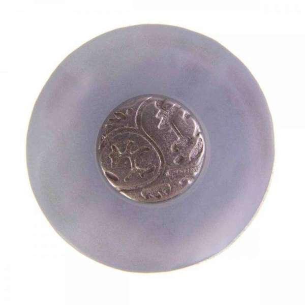 Ösen Knöpfe mit Metalleinlage SK-89 blau silber