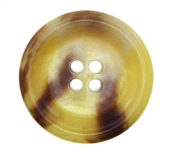 Knöpfe Horn Imitat HI-7 beige braun