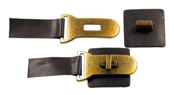 Dufflecoat Riegel Verschluss Leder K-115