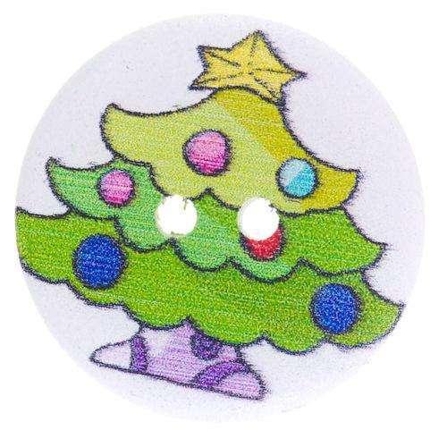 Holzknöpfe kaufen mit Weihnachtsmotiv HK-359