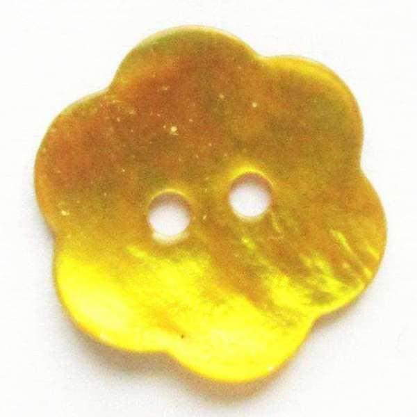 Perlmuttknöpfe Blume gelb PL-15 gelb
