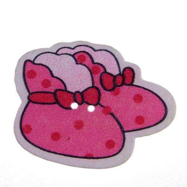 Kinderknöpfe kaufen Baby-Schuhe KK-91-pink