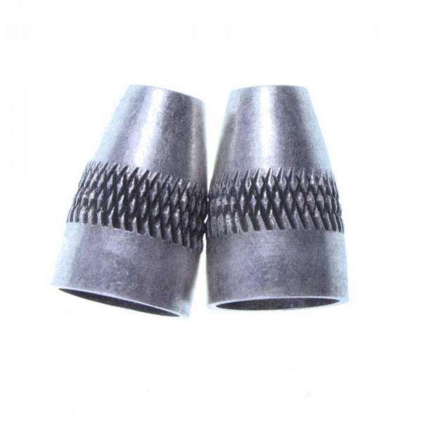 Kordelenden aus Metall altsilber KOE-9as