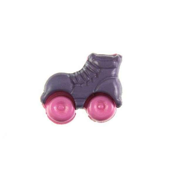 Kinderknöpfe kaufen Rollschuhe-KK-150-lila-2