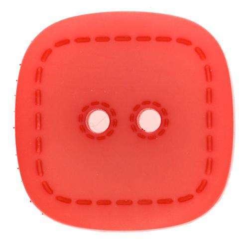Knöpfe kaufen 2-Loch Knopf Qudratisch mit Stepmuster KRO-45