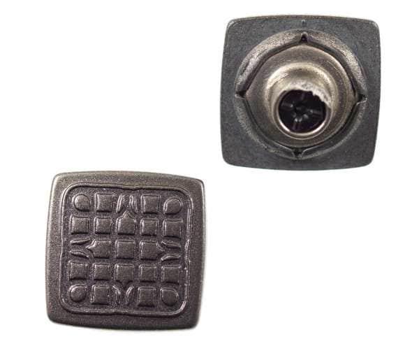 Jeansknöpfe Quadrat nj-60-grau